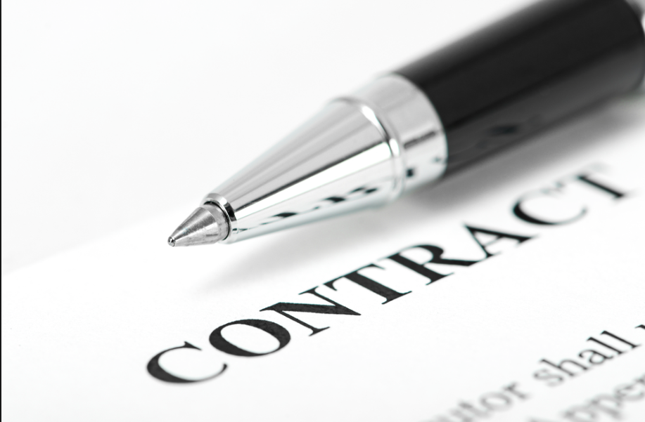 Image of an event planning contract