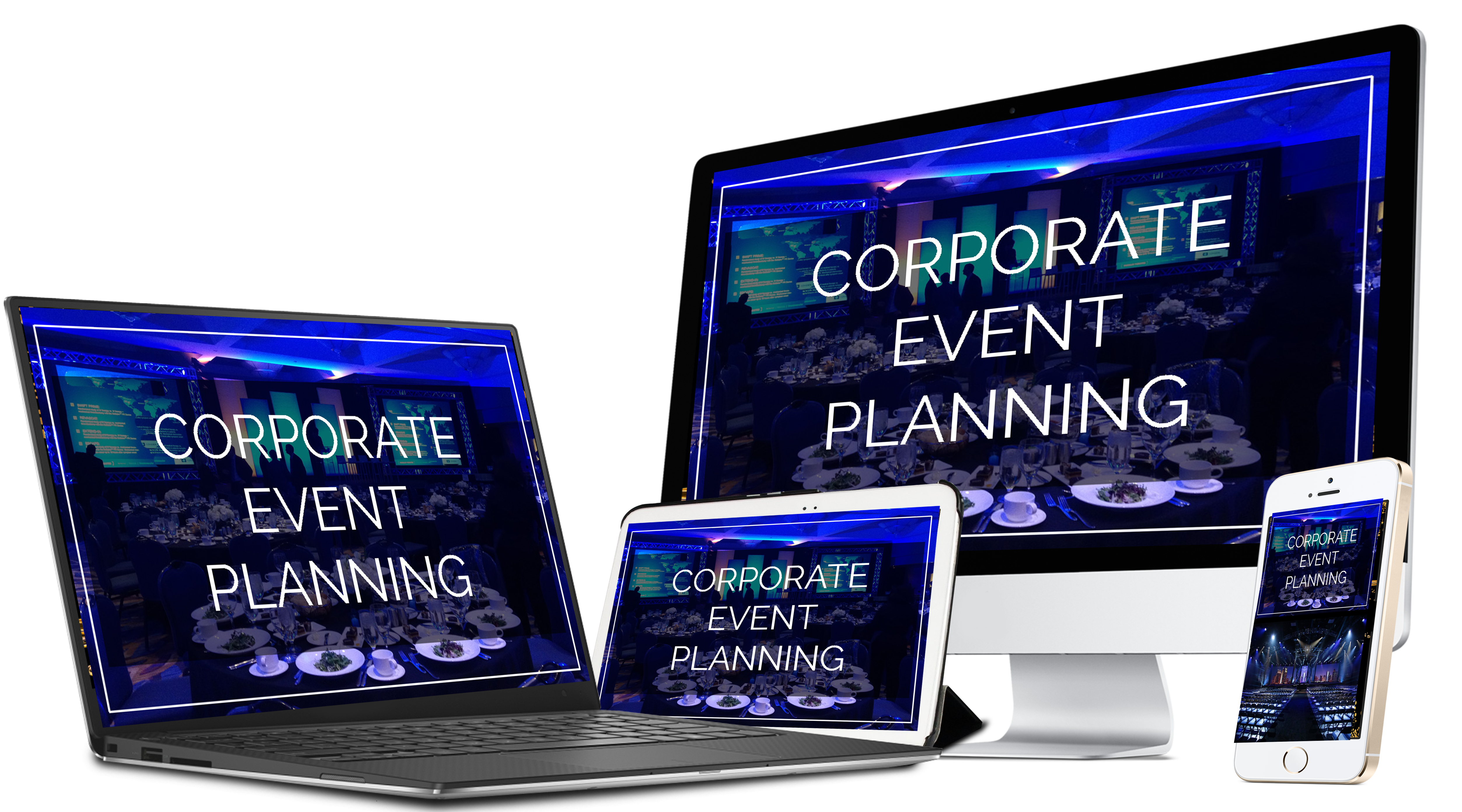 Cover of Corporate Event Planning Course on various devices