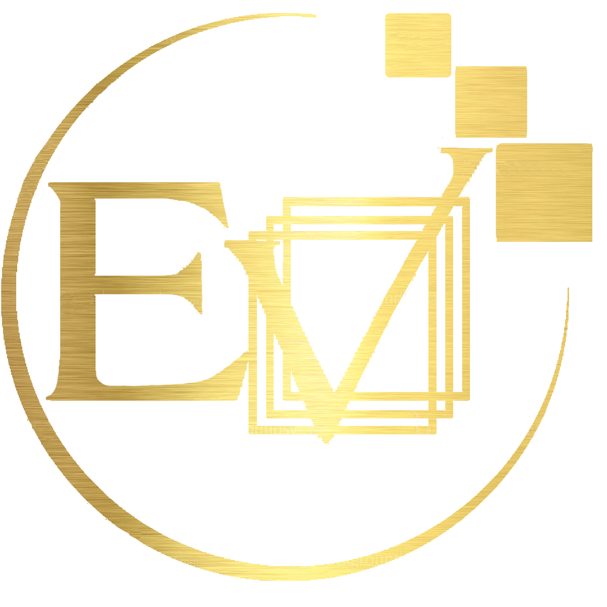 Eventful Ventures Circle Logo in Gold