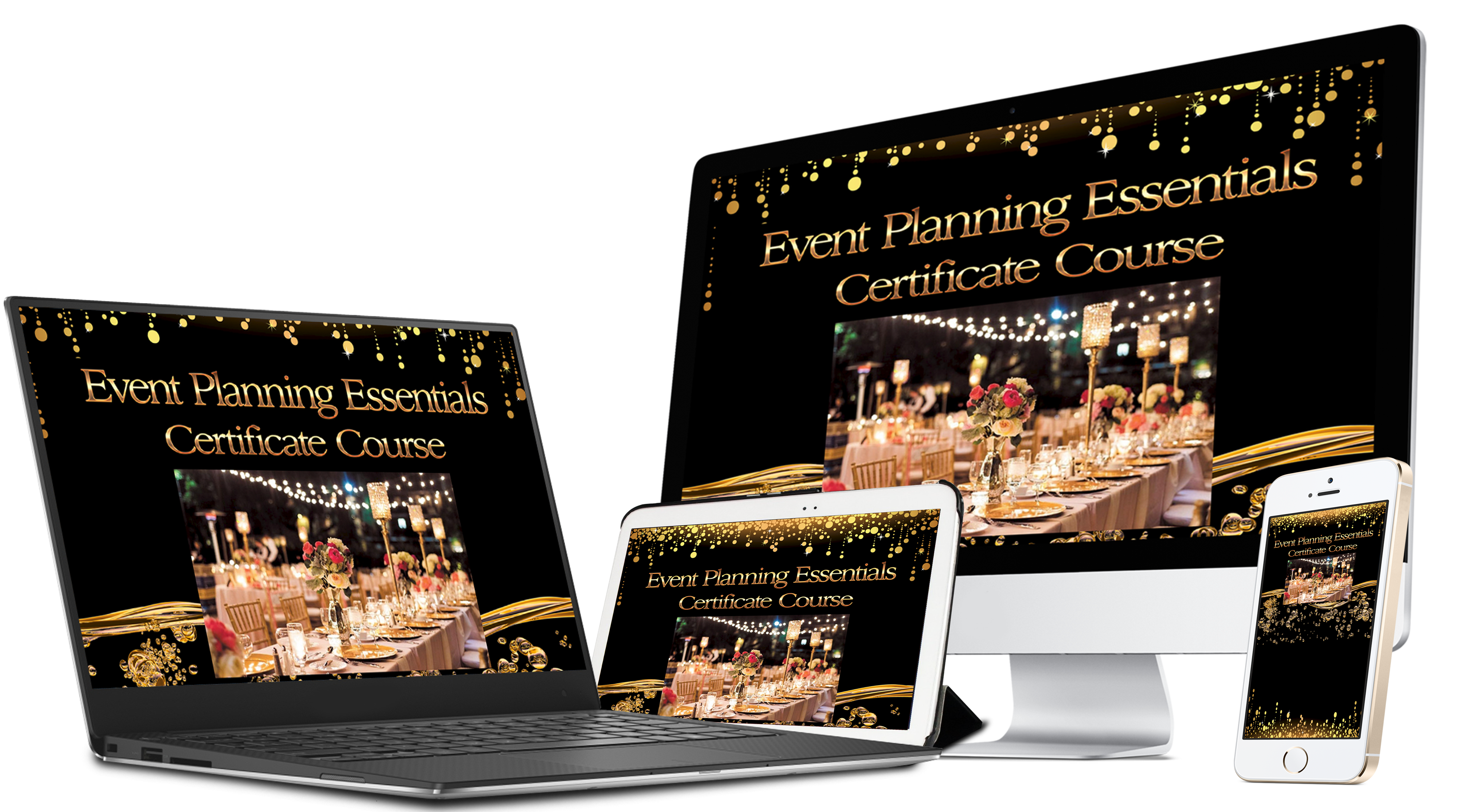 Image of the Event Management Course Essentials on various devices